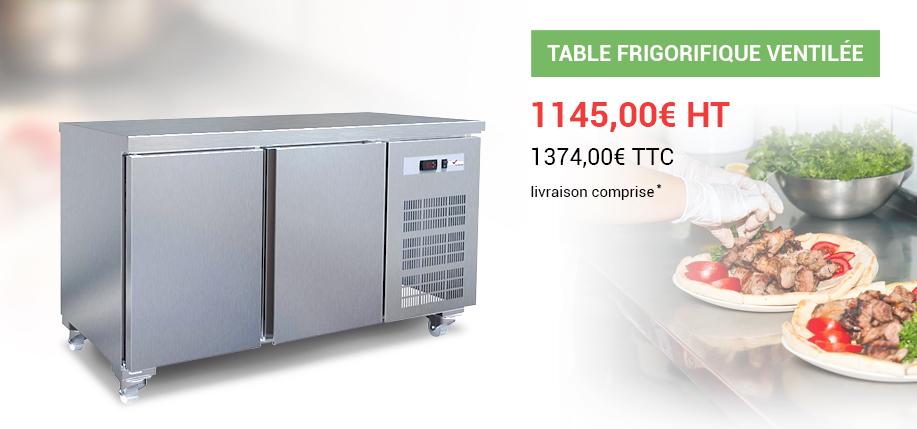 Table frigorifique ventilée