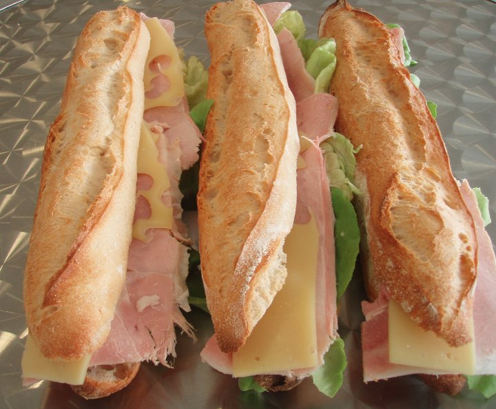 Sandwich jambon fromage normal